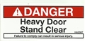 Decal, Danger, Heavy Door